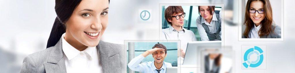 men and women in business attire