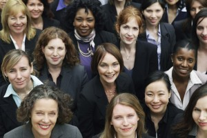 group of professional business women