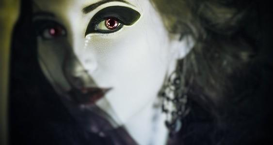 Woman in Halloween Makeup