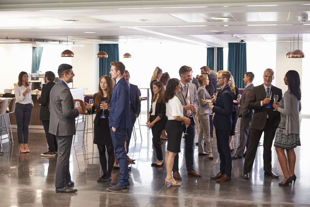 Networking At Conference Drinks Reception